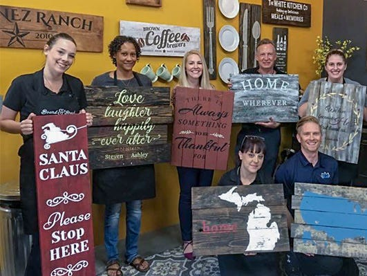 Save $25!  Join this popular DIY wood sign workshop to create your own unique wood sign!
