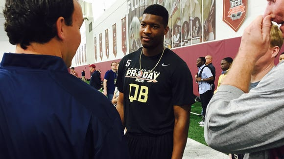 Winston at FSU's Pro Day