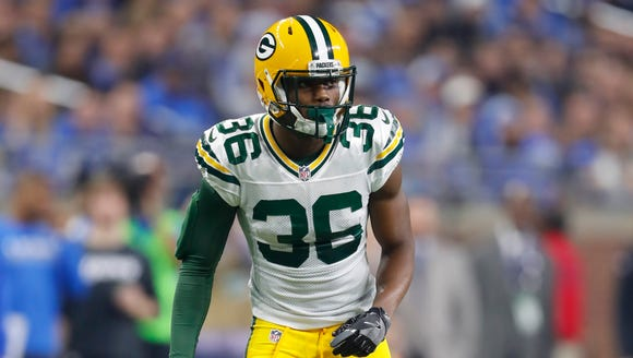 Green Bay Packers cornerback LaDarius Gunter (36) made