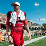 Oct 10, 2015; Bowling Green, KY, USA; Western Kentucky Hilltoppers quarterback Brandon Doughty (12) walks off the field after the second half at Houchens Industries-L.T. Smith Stadium. WKU won 58-28. Mandatory Credit: Joshua Lindsey-USA TODAY Sports