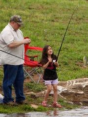 Fishing at Rutledge-Wilson Farm Park.