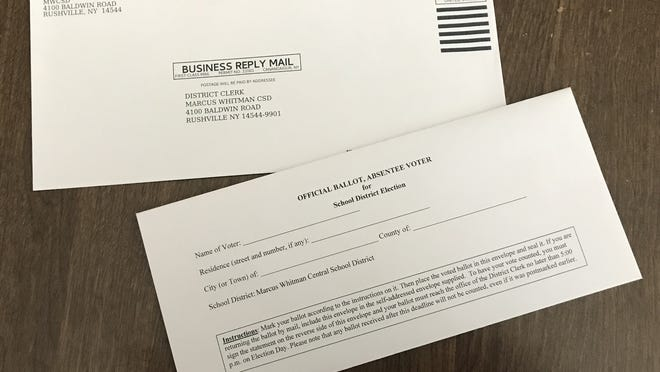 School district ballots, like this one from the Marcus Whitman district, may be hand-delivered by 5 p.m. Tuesday or received by mail by June 16.