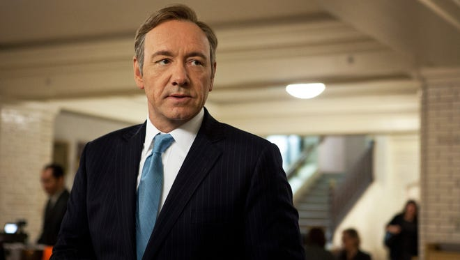 Kevin Spacey stars as Representative Frank Underwood in the Netflix-produced political thriller 'House of Cards.'