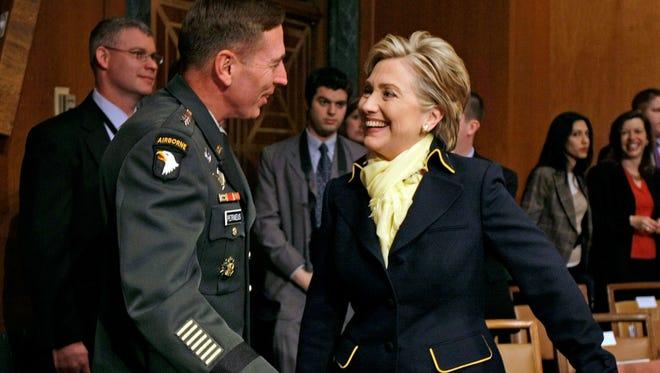 Hillary Rodham Clinton and David Petraeus back in 2008.