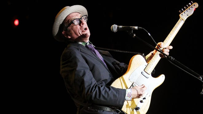 Elvis Costello & The Imposters perform at Bluesfest Music Festival in Byron Bay, Australia in 2011.