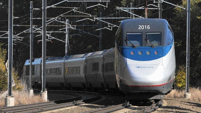 An Amtrak Acela train is pictured in this Oct. 18, 2016, Associated Press file photo.