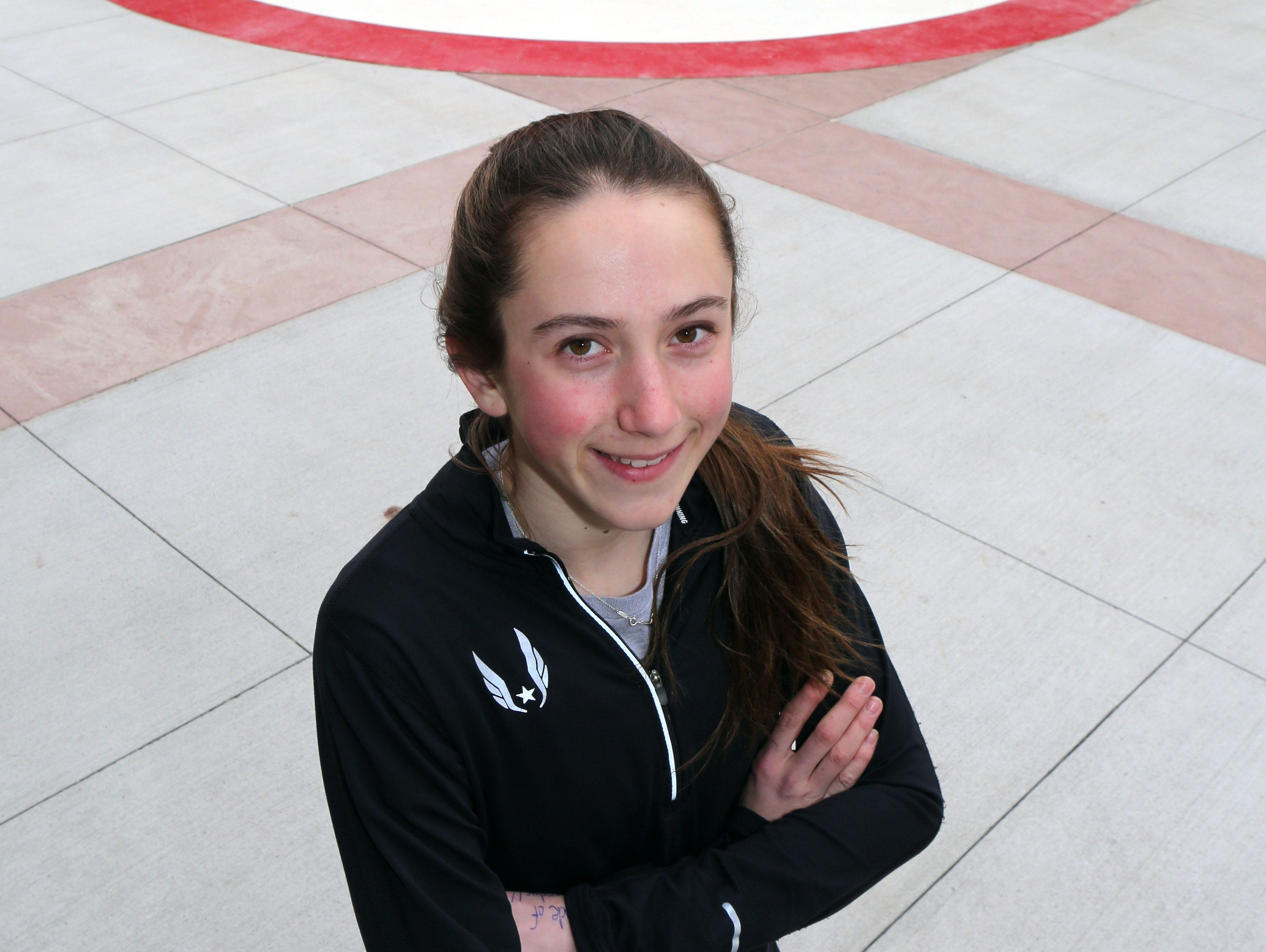 Alex Harris, a junior at North Rockland High School, is The Journal News Rockland Track and Field Star for winter. Here she is photographed at the school in Thiells, March 18, 2016.