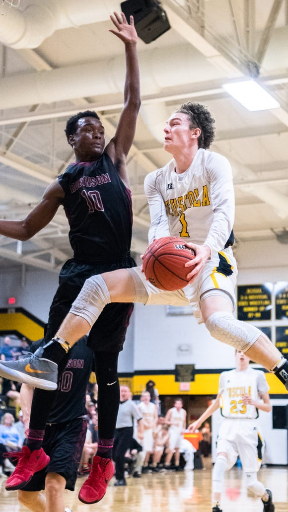 The Tuscola boys basketball team played Jay Robinson in the first round of the playoffs losing 76-75, Tuesday, February 20, 2018.