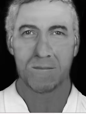 A sketch of a man whose body was found in West Manchester Township in November 2013. Photo courtesy of West Manchester Township Police.