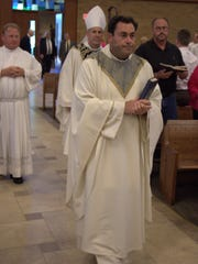 Fr. Scott at the beginning of the anniversary mass.