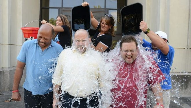 The Clarion-Ledger political team took the challenge last Friday, and many more local officials and celebrities have accepted their challenges.