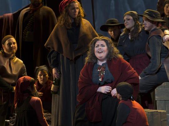"""Mezzo-soprano Jamie Barton made a memorable Cincinnati Opera debut, singing her first Azucena, the Gypsy in Verdi's """"Il Trovatore"""""""