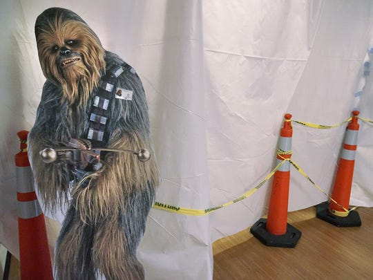Chewbacca let us in for a sneak peek at the newly renovated Children's Library.