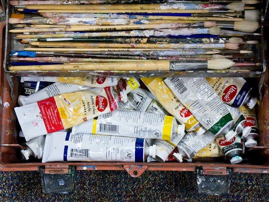 The tools of Dennis Orlowski's art.