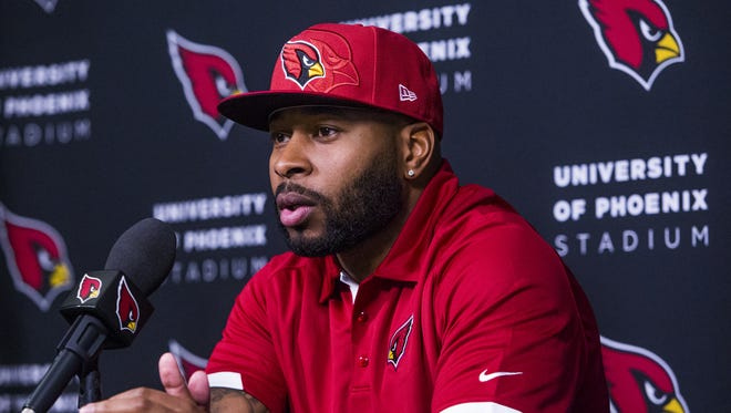 Safety Antoine Bethea meets the media as a new member of the Arizona Cardinals.