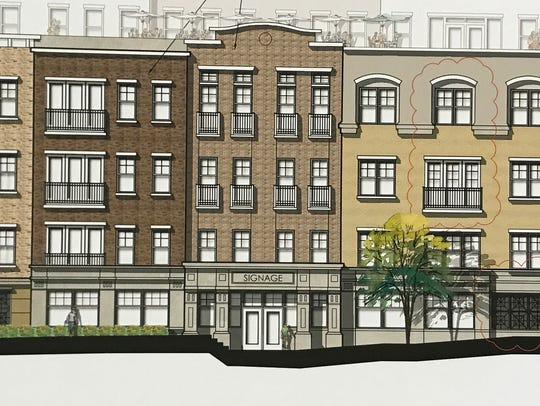A rendering of how the proposed Sealfons building development,