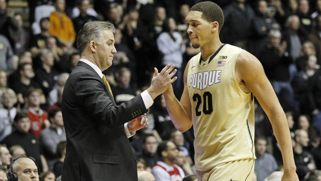 Purdue center A.J. Hammons said he's in better shape thanks to a one-month stint at former NBA coach John Lucas' camp in Houston this summer.