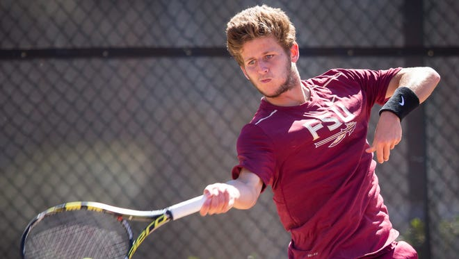 Redshirt junior Lucas Poullain continued his strong run for the Florida State men's tennis team this weekend.