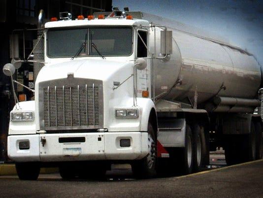 Tanker Trucks Transport Fuel