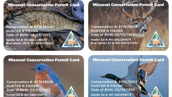 New plastic permit card options offered by Missouri Department of Conservation.