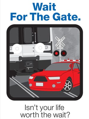 The MTA is partnering with Operative Lifesaver on an ad campaign to promote safety at its Metro-North and LIRR railroad crossings.