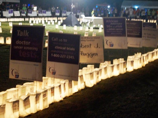 File: Relay for Life's luminaria honors cancer victims comes at the end of the day.
