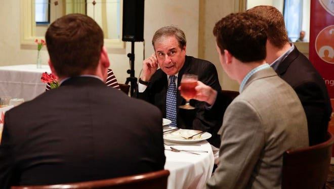 Third District Congressman John Yarmuth speaks with young professionals at Vincenzo's in downtown Louisville.2/13/15