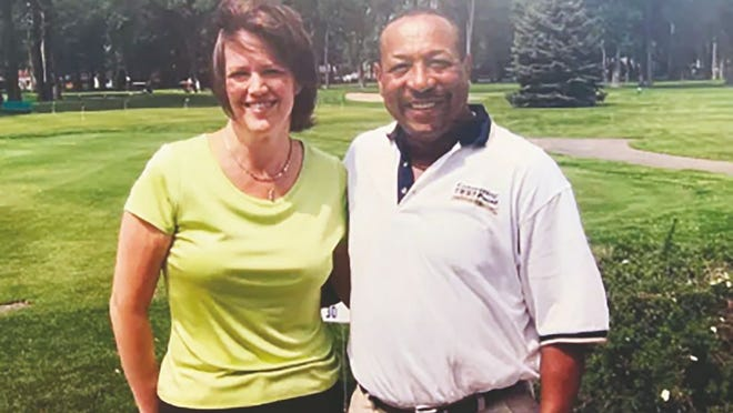 USA TODAY Sports columnist Christine Brennan and former Toledo quarterback Chuck Ealey. Ealey's magical run as a college QB helped ignite Brennan's passion for sports.
