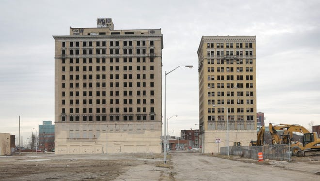 The Hotel Park Avenue, left, and the Hotel Eddystone are 13-story structures.