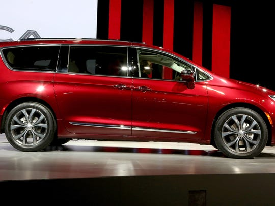 FCA unveiled the 2017 Chrysler Pacifica during the 2016 North American International Auto Show held at Cobo Center in downtown Detroit on Monday, Jan. 11, 2017. 
