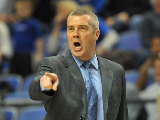Indiana State men's basketball coach Greg Lansing.