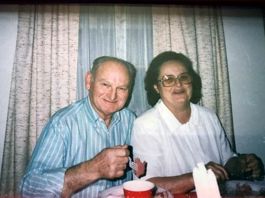 A family photo of Helen Harney and her brother, Godfrey.