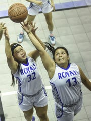 Notre Dame Royals took on the John F. Kennedy Islanders in an Independent Interscholastic Athletic Association of Guam Girls' Basketball League game at ND on Nov. 13.
