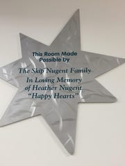 A room at Children's Hospital dedicated to the Nugent family in memory of Heather Nugent, a Visalia girl who died in a car crash in 2002. Happy Hearts Day is a fundraiser held by the Nugent family that benefits the hospital.