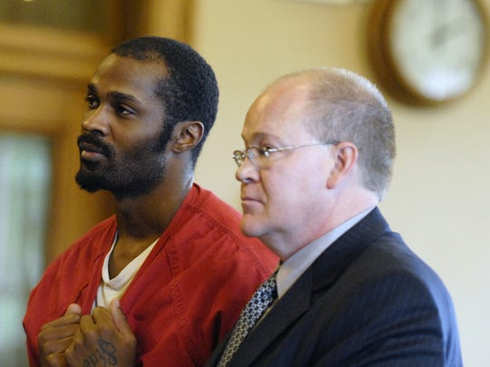 Serial killer Matthew E. Macon, left, is sentenced