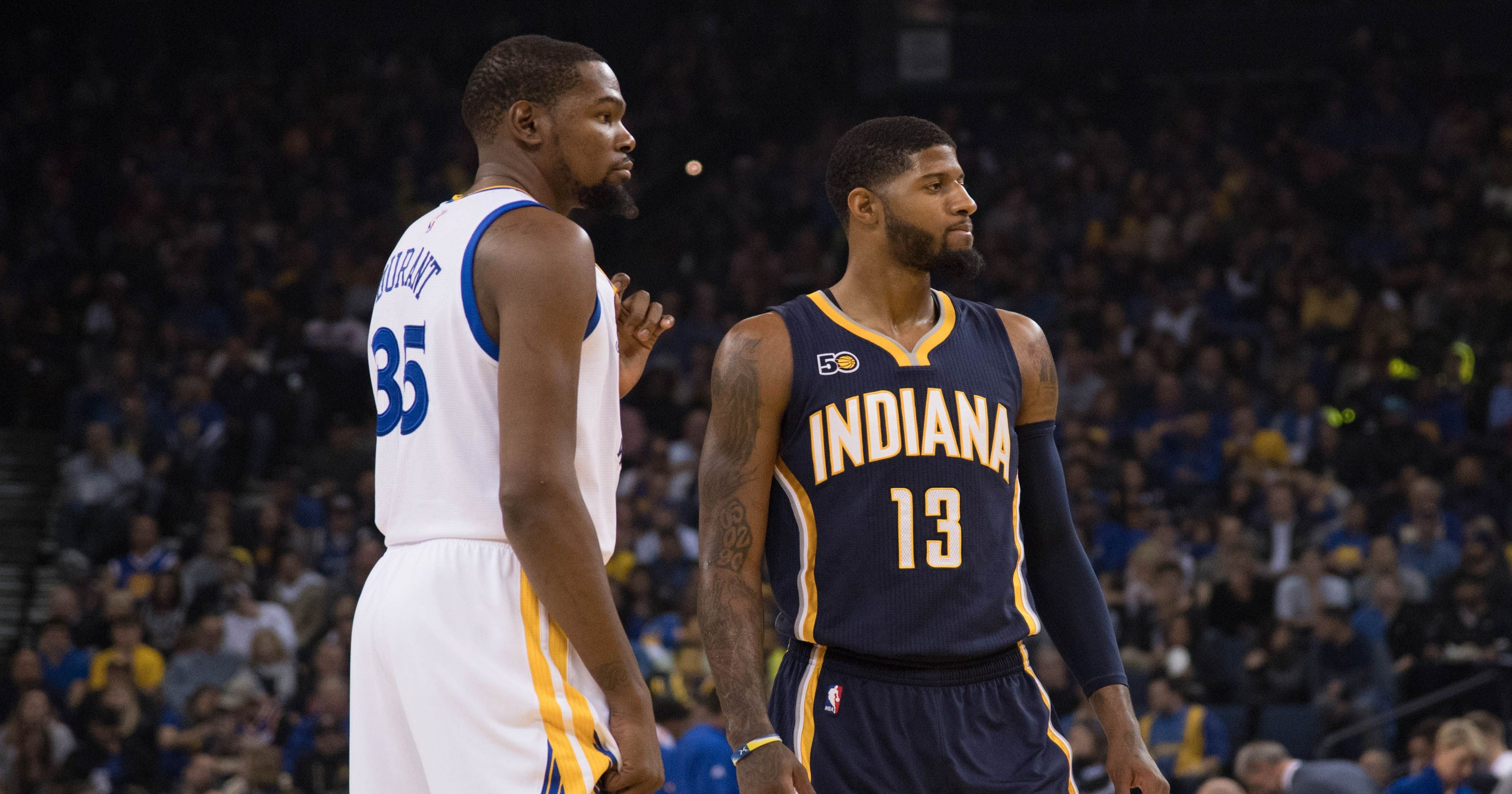 best service 7ba78 7e150 Paul George  Kevin Durant gave advice on what to expect with Thunder
