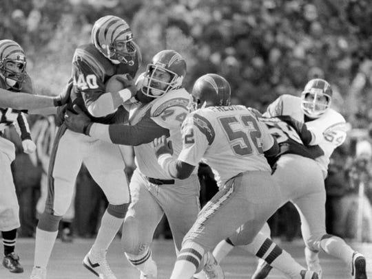 Cincinnati Bengals running back Charles Alexander,