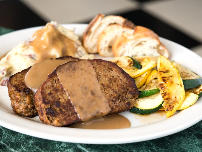 The meatloaf plate, an item on Metro Diner's lunch