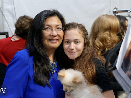 Mary Chao with daughter Noelle Nafus.