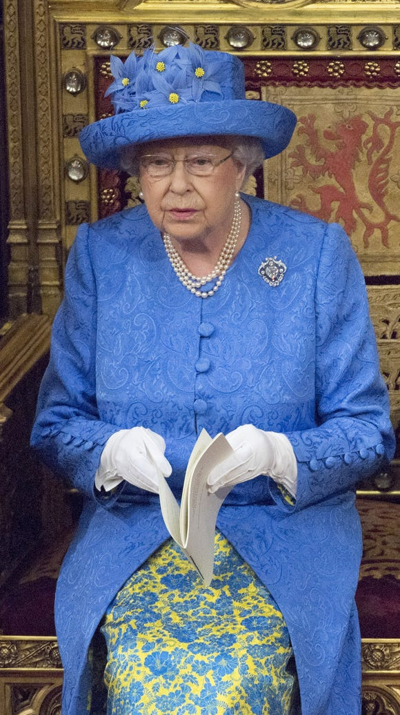Queen Elizabeth II reads Queen's Speech during the