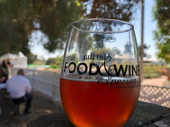 An Oktoberfest beer from 14 Cannons Brewery & Showroom of Westlake Village was paired with the Tap House Slider from Barrelhouse 101 during the Ventura County Star Food & Wine Experience Oct. 1 in Ventura. The brewery will mark its grand opening this weekend, with music and more planned Oct. 7.