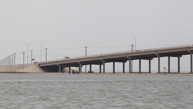 JFK Causeway, shot from the Laguna Madre on 5/22/2013.