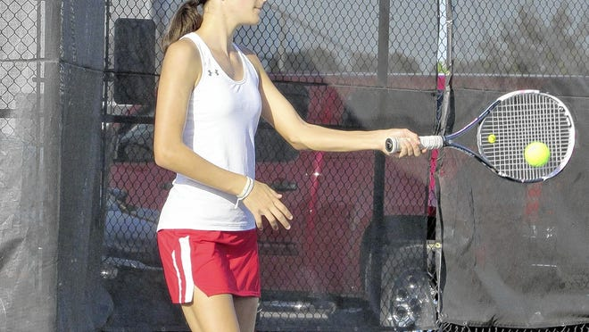 Junior third-singles player Audrey Mousa is among a strong group of returnees who will lead the Worthington Christian girls tennis team.