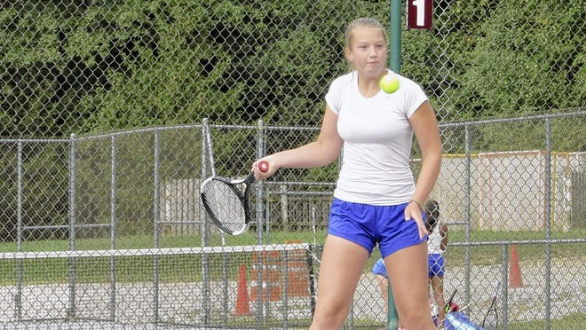 Liberty senior Dani Schoenly, an Ohio State recruit, is playing first singles for the Patriots after winning Division I state titles in doubles in 2017 and 2018.