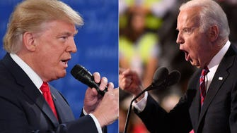 President Donald Trump and former Vice President Joe Biden threatened to beat each other up again.