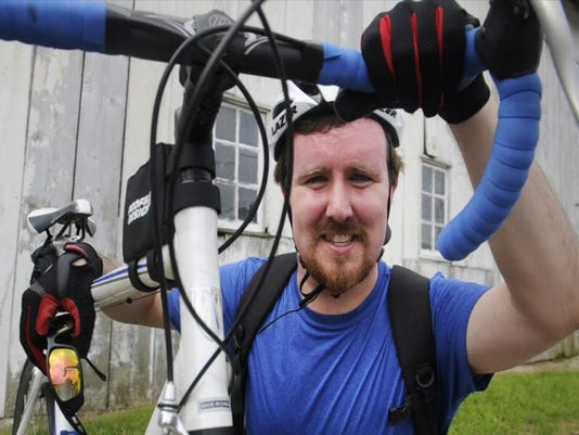 Wes Rosselet of Penn Township recently completed a cross-country bicycle trek.