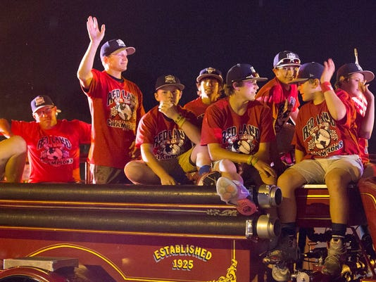 The Red Land baseball team returns home from the Little League World Series in Williamsport Sunday, August 30, 2015.