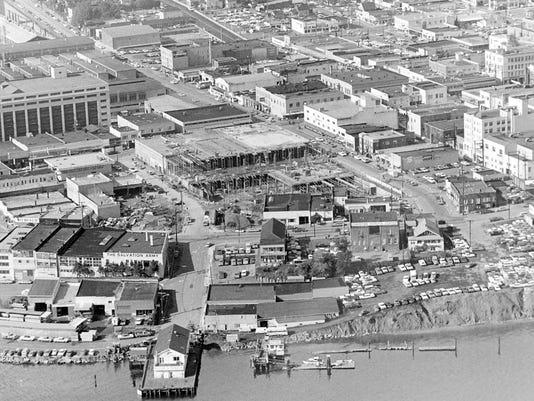 October 15, 1968 Aerial Of Bremerton (R. Ellis / Bremerton Sun)
