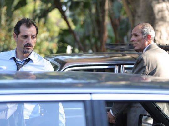 """Adel Karam, left, and Kamel El Basha star in """"The Insult."""""""