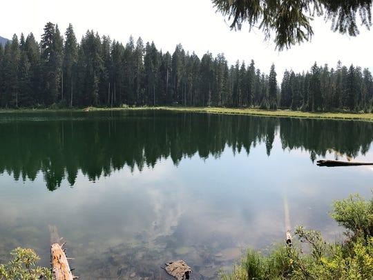 Parish Lake with a view of North Pyramid.